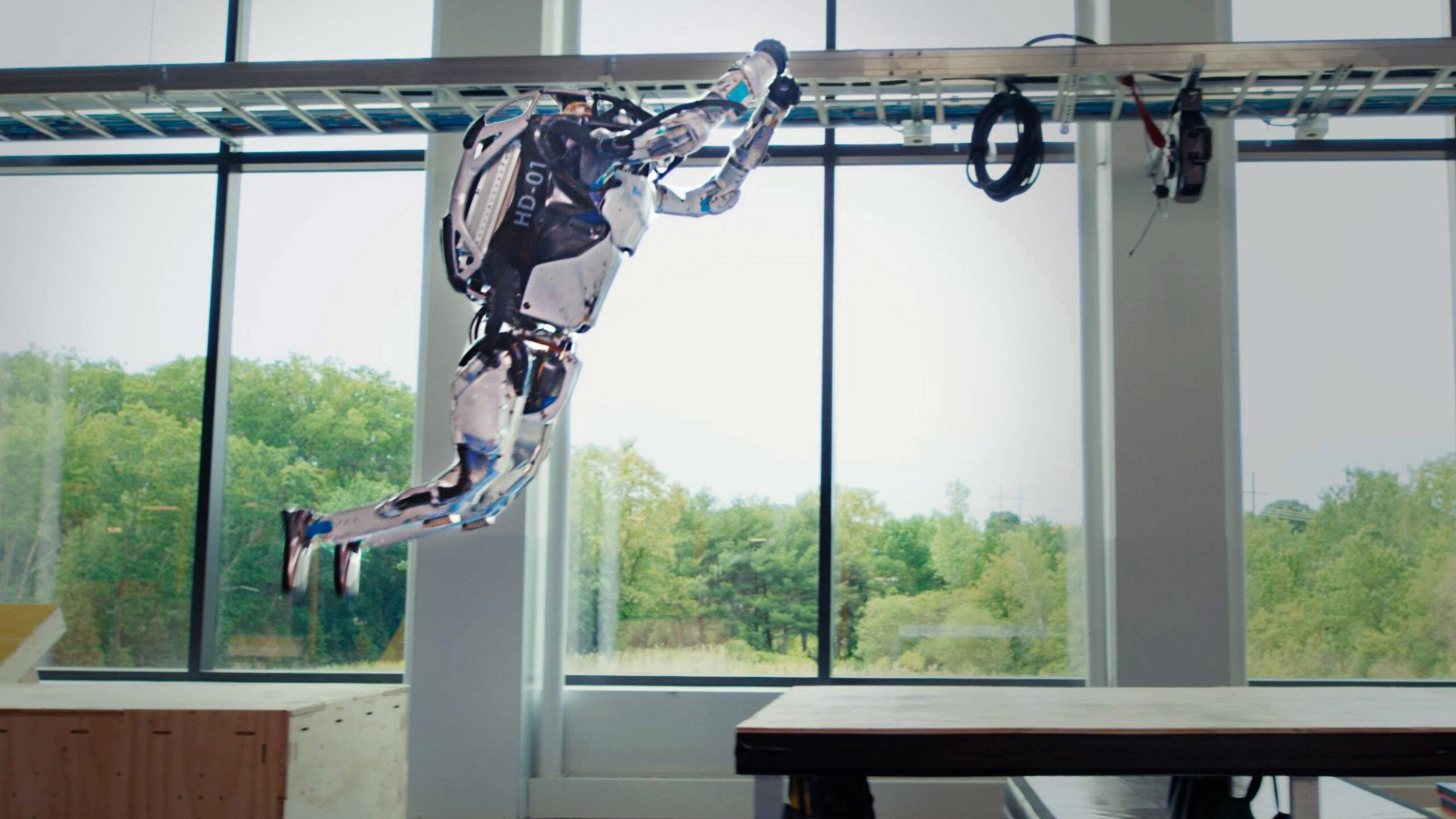 The corporate in the back of the gain's current viral robots is now showing off their parkour expertise